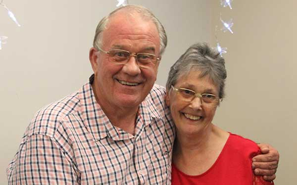 Photo of Wandin Baptist Church Pastor Darrell and his wife Pam